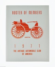 Antique Automobile Magazines 1971 Roster of Members Antique Automobiles,... - $10.00