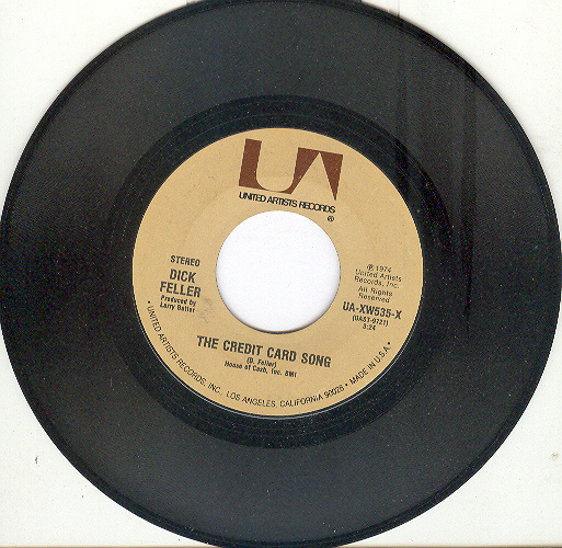 DICK FELLER 45 rpm The Credit Card Song