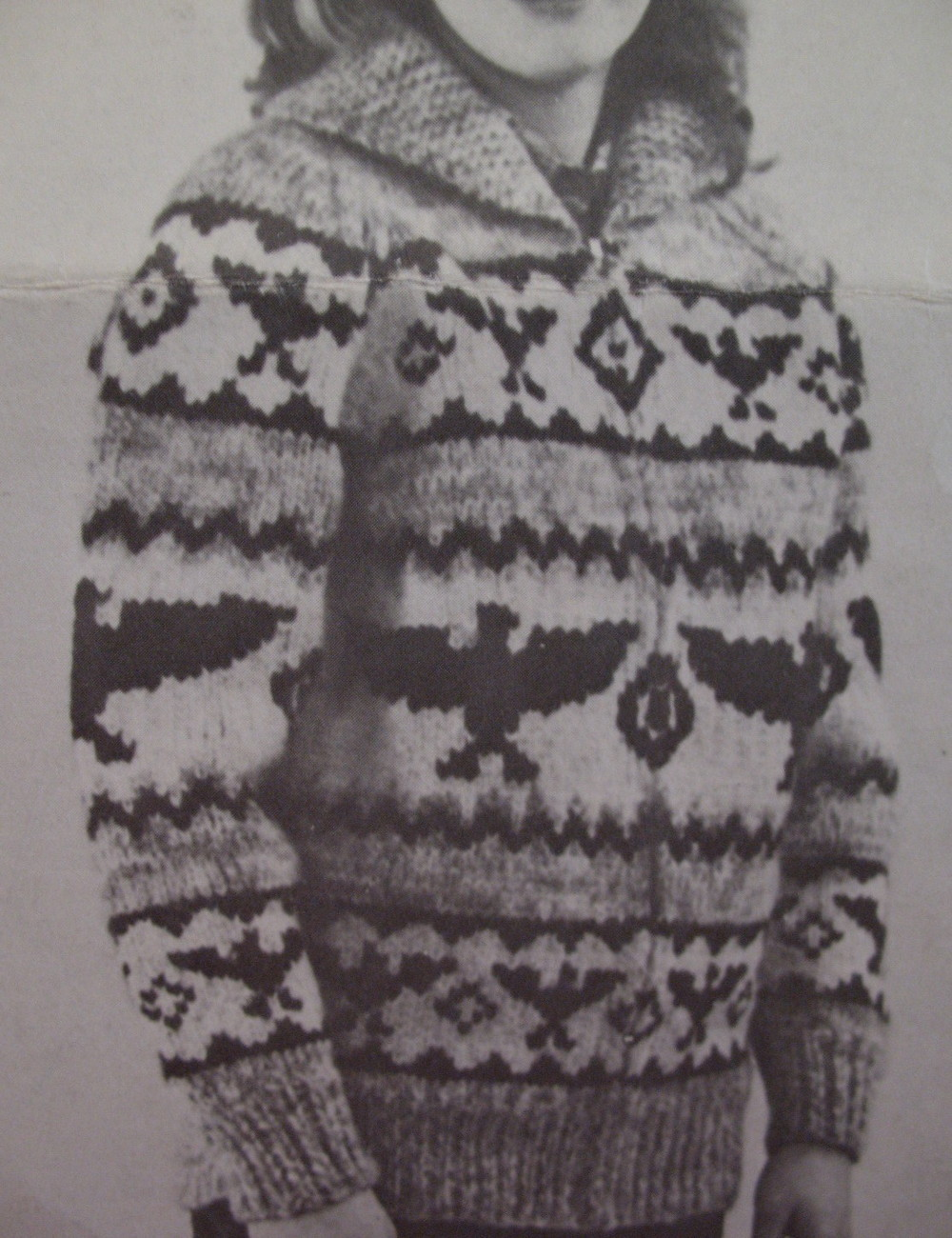 Vintage White Buffalo Canadian Sweater Knitting Pattern