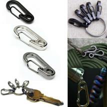 Stainless Steel Split Keychain Carabiners Climbing Key Ring Fishing Tool - $5.68