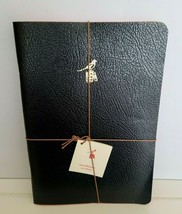 "NWT! Set 3 BIEFFE Italy Lined Handmade Notebooks BLACK Journal 5.5"" X 8"" - $15.79"