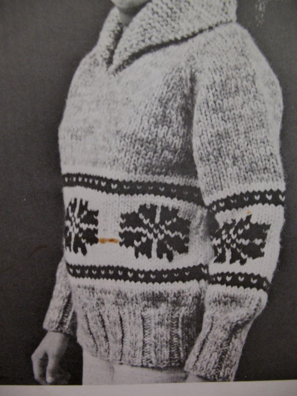 White Buffalo Canadian Pullover Sweater Knitting Pattern