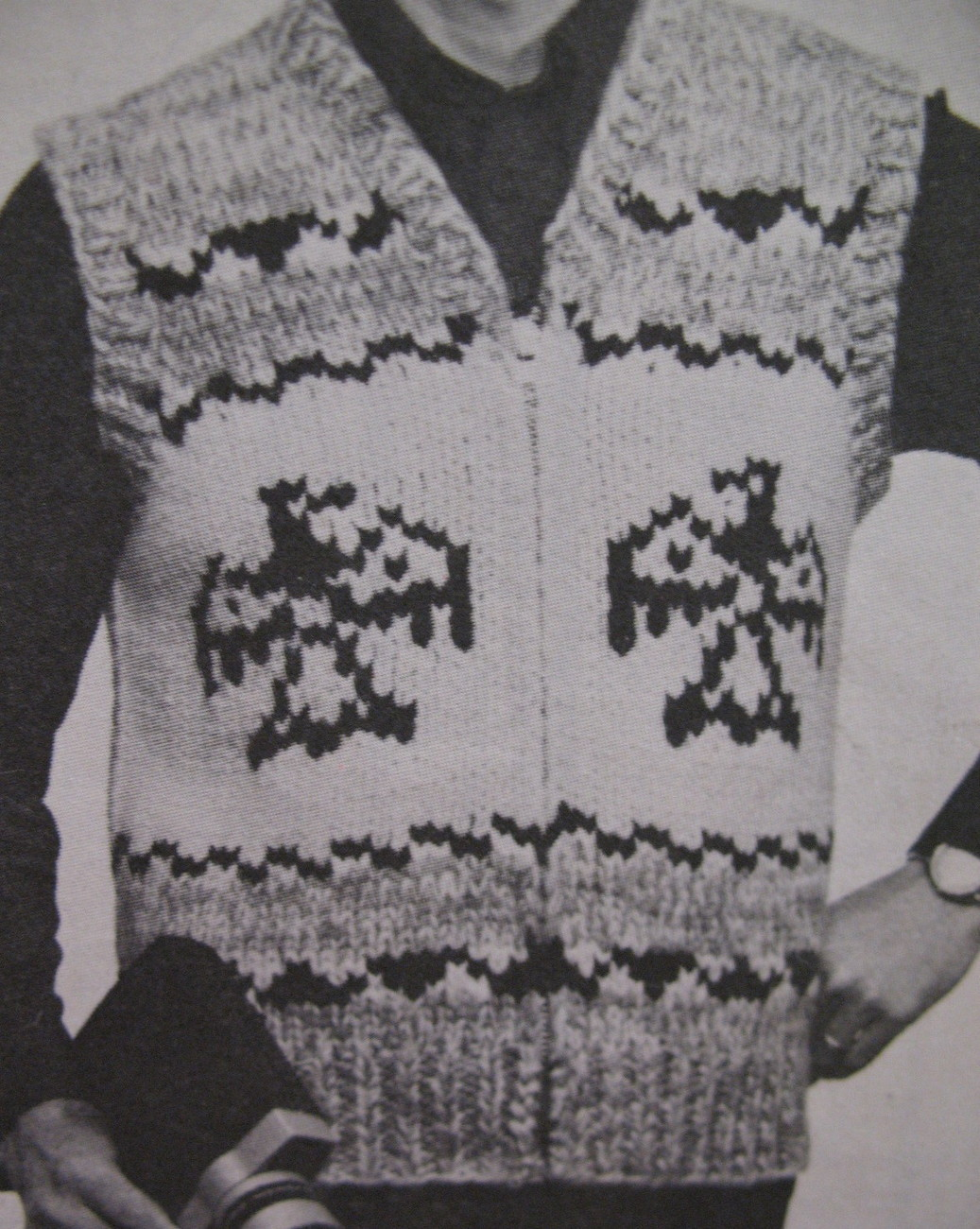 White Buffalo Canadian Sweater Vest Knitting Pattern