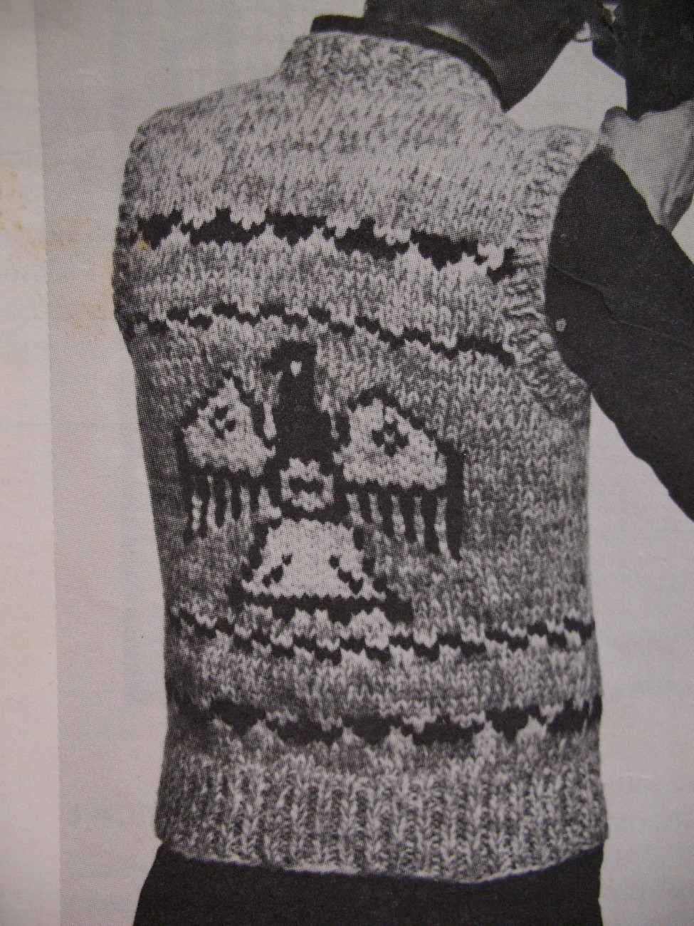 White Buffalo Canadian Sweater Vest Knitting Pattern - Patterns-Contemporary