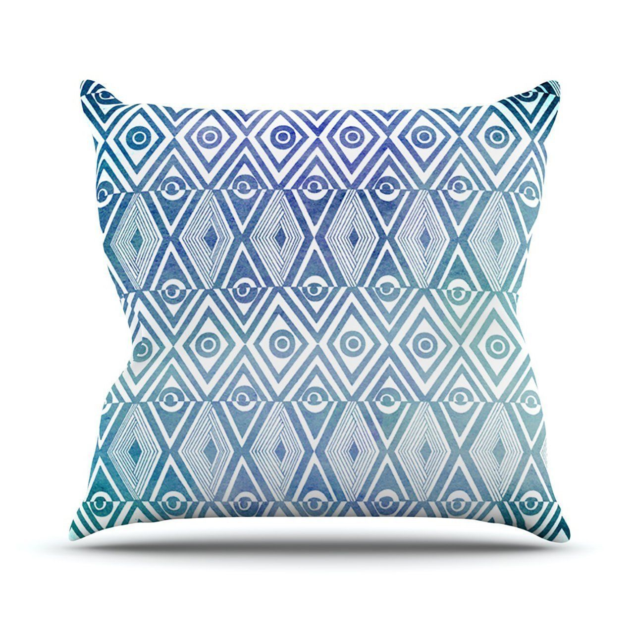 "Kess InHouse Pom Graphic Design ""Tribal Empire"" Outdoor Throw Pillow, 18 by 18-I"