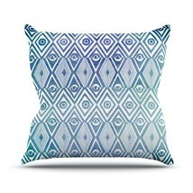 "Kess InHouse Pom Graphic Design ""Tribal Empire"" Outdoor Throw Pillow, 18... - $939,80 MXN"