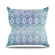"Kess InHouse Pom Graphic Design ""Tribal Empire"" Outdoor Throw Pillow, 18... - $46.49"