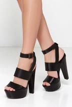 "STEVE MADDEN DEZZY PLATFORMS 7.5 Black Extreme 6"" Heels Sexy Shoes Sanda... - $98.00"