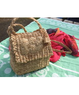 Cute Esprit Straw Rope Weave Shoulder handbag P... - $20.00