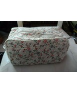 Vera Bradley Retired Travel Toiletry/Cosmetic/Lingerie bag  Ivory Floral... - $26.00