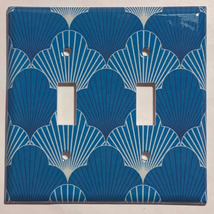 Japanese Pattern Art Scallop Light Switch Outlet wall Cover Plate Home Decor image 3