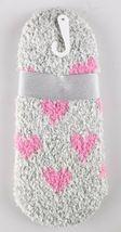 Charter Club Womens Gray Pink Hearts Fuzzy Cozy Super Soft Socks NEW w Tags image 3