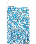 Surrealist skirt NWT M foldover waist ruched bottom white turquoise gold... - $17.81