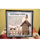 Framed Outhouse Rules Home Decor Wall Hanging/S... - $6.00