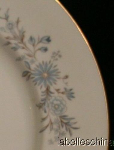 """Aynsley Mayfield 10 3/8"""" Blue Floral Dinner Plate Gold Trim English Bone China image 3"""