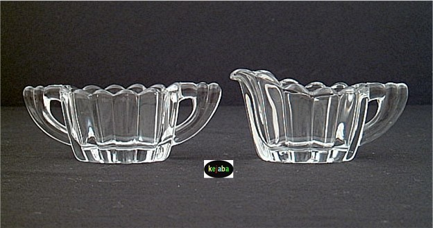 Primary image for Heisey Crystolite Creamer And Sugar Individual Size