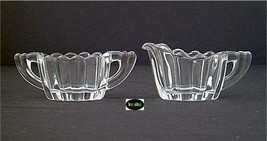 Heisey Crystolite Creamer And Sugar Individual Size - $14.95