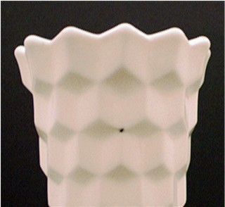 Fostoria American Milk Glass Vase 8 1/2 In. Tall