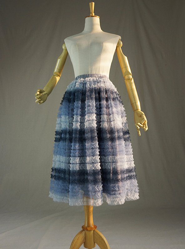 Grey multicolor tulle skirt 1