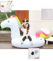 "Big Unicorn Inflatable Ride On Floats Pool Raft Swim Tube for Adults 81.5"" 207cm image 7"