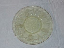 "Amber Glass Bread Plate 6 1/8"" wide vintage Hocking ~ - $14.84"
