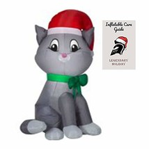Cute Cat Christmas Inflatable Decoration 3.5 ft with Inflatable Care Guide - $40.90