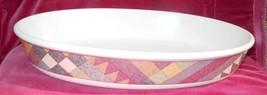 "Studio Nova Palm Desert Oval Baker Pan Dish Serving 15"" Y2216 Geometric - $37.86"
