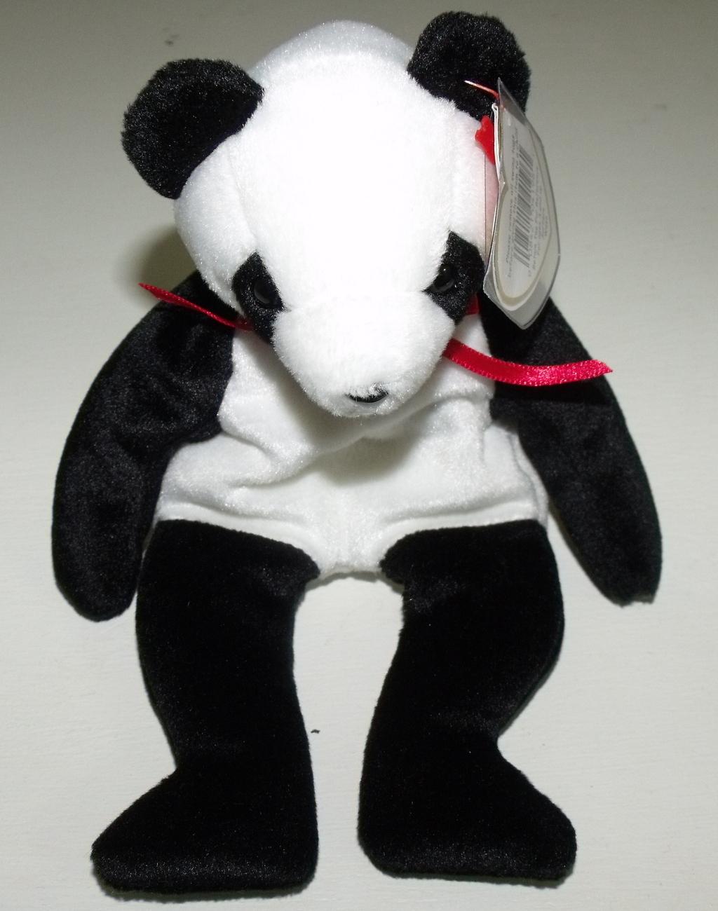 Ty Beanie Babies NWT Fortune the Panda Bear Retired