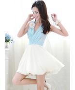 SALE Marie Antoinette Style Light Blue White Co... - $89.90