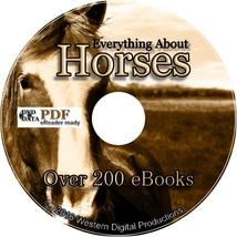 200+ eBooks Race Horse Training Riding Breeding Vet Shoeing Show Halter ... - $9.99