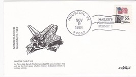 SHUTTLE FLIGHT #15 MEMBER ADDED MAILERS POSTMARK HOUSTON TX 11/9/1984 SCCS - $1.98