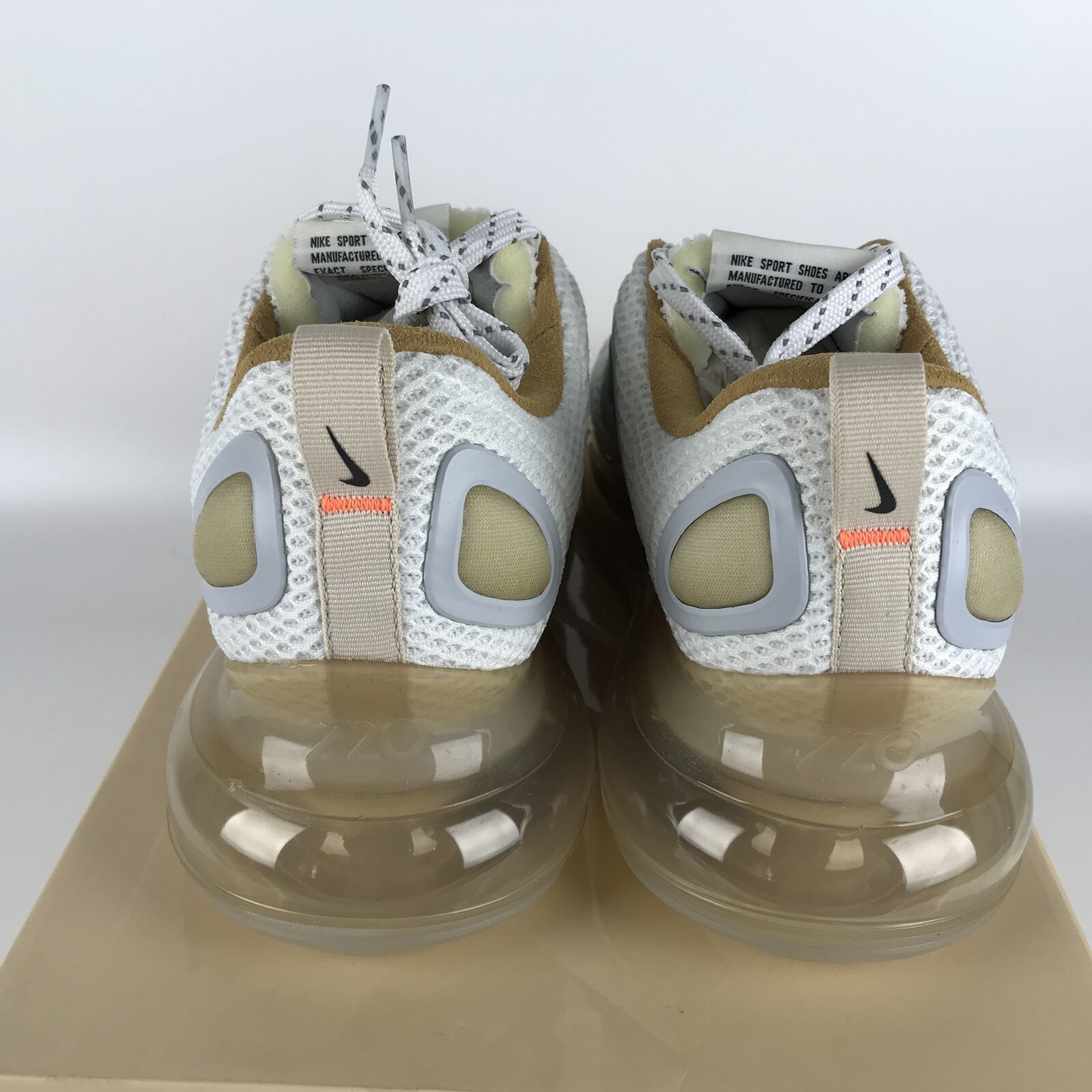 Nike Air Max 720 Running Shoes 10.5 White/Pale Vanilla CI6393 100 image 5