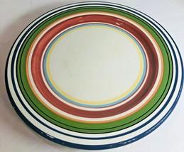 "Pottery Barn "" ESPADRILLE STRIPE"" Large Dinner Plate 12 1/2"" D - $12.86"