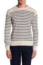 J.CREW Men's Cashmere Stripe Crewneck Sweater Size L - $60.52