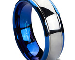 carbide wedding bands blue silver dome gunmetal promise rings for couples jewelry thumb155 crop