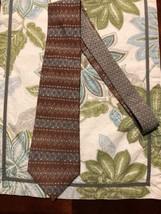"Sharp Looking Brown Blue Circle Pattern Tommy Hilfiger Neck Tie 59"" - $18.04"