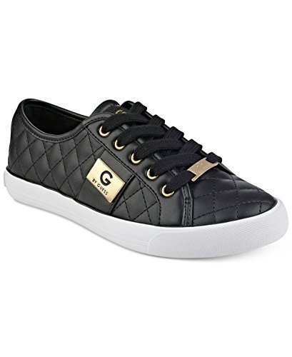 G by GUESS Backer2 Women's Lace-Up Sneakers Shoes (8, Black)