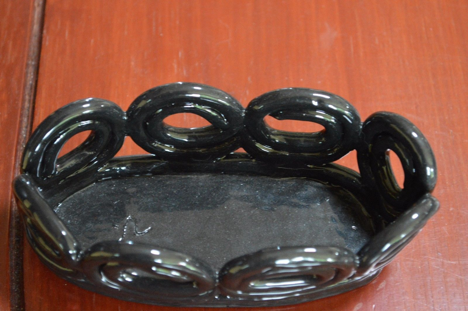 handmade ceramic small oval tray