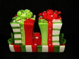 Cracker Barrel Mingle & Jingle Salt & Pepper Shakers w/ Tray Set  - $12.73