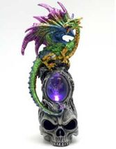 """9 1/2"""" Dragon on Skull LED light - $753,31 MXN"""