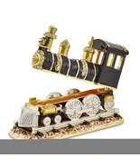 Non Metal Bejeweled Axel Steam Engine Trinket Box (Length=3.3) (Width=1.... - $51.52