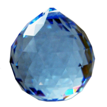 Swarvoski Strass Crystal 30mm Faceted Ball Prism  Sapphire image 2
