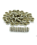 100P Czech Crystal Rhinestones Bronze Rondelle Spacer Beads 4mm 5mm 6mm ... - $3.75+