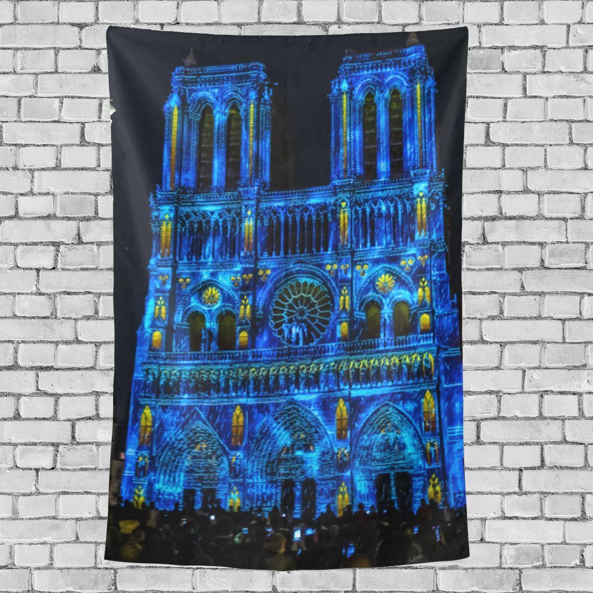 Notre Dame Home Decor: Living Wall Decor Colorful Notre Dame De Paris Pattern