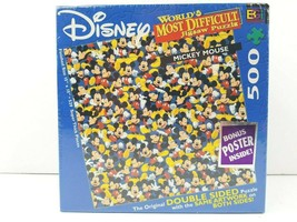 Disney Worlds Most Difficult Jigsaw Puzzle Mickey Mouse Double Sided 500... - $34.64