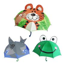 Kids Cartoon Cute Umbrella Foldable Light Rain Children 3D Shape Duck Pa... - $30.02