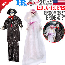 Hanging Skeleton Ghost Bride Groom Wedding Day of the Dead Halloween Dec... - $29.05