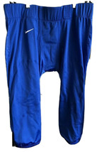 Nike Mens Dri Fit Football Velocity Blue Tights Pants 2XL Compression Re... - $14.84