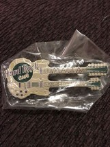Hard Rock Café Malta Grand Opening 2001 Double Guitar Pin New In package - $46.71