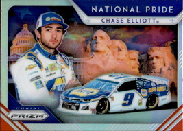 Chase Elliott 2019 Panini Prizm Silver Parallel National Pride Card #NP-3 - $2.00